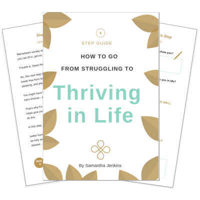 How to go from struggling to thriving in life